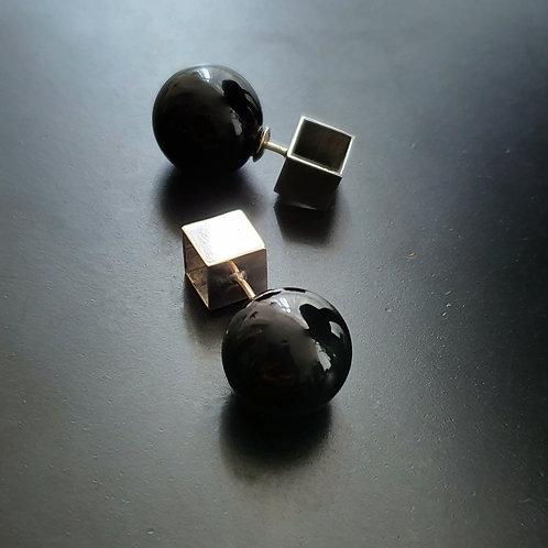 Scrd Geometry Earposts/ Cube Hollow