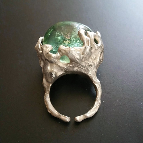 Spellbound with Corals Seawater Ring