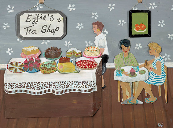 Effie's Tea Shop Original Print