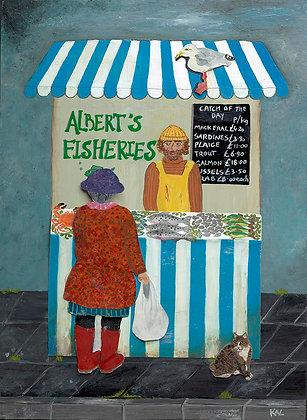 Albert's Fisheries Original Print
