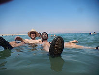 Floating in the Dead-Sea