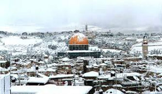 Beautiful Jerusalem in The Snow