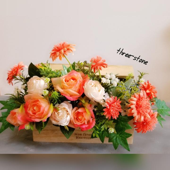 木のボックスアレンジ