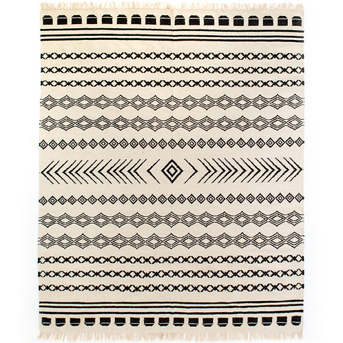 Black Patterned Rug