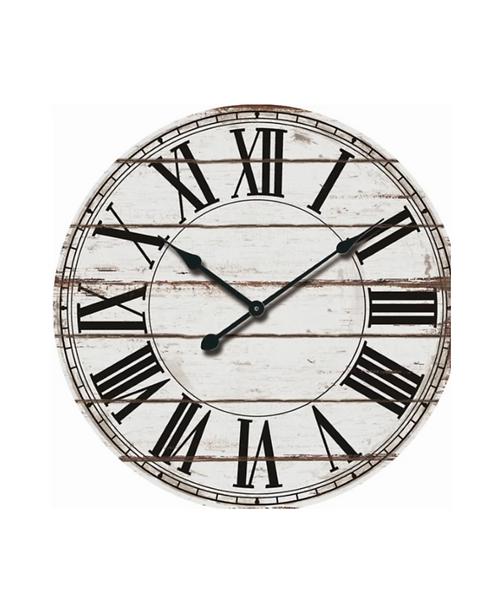 Oversized Wooden Wall Clock