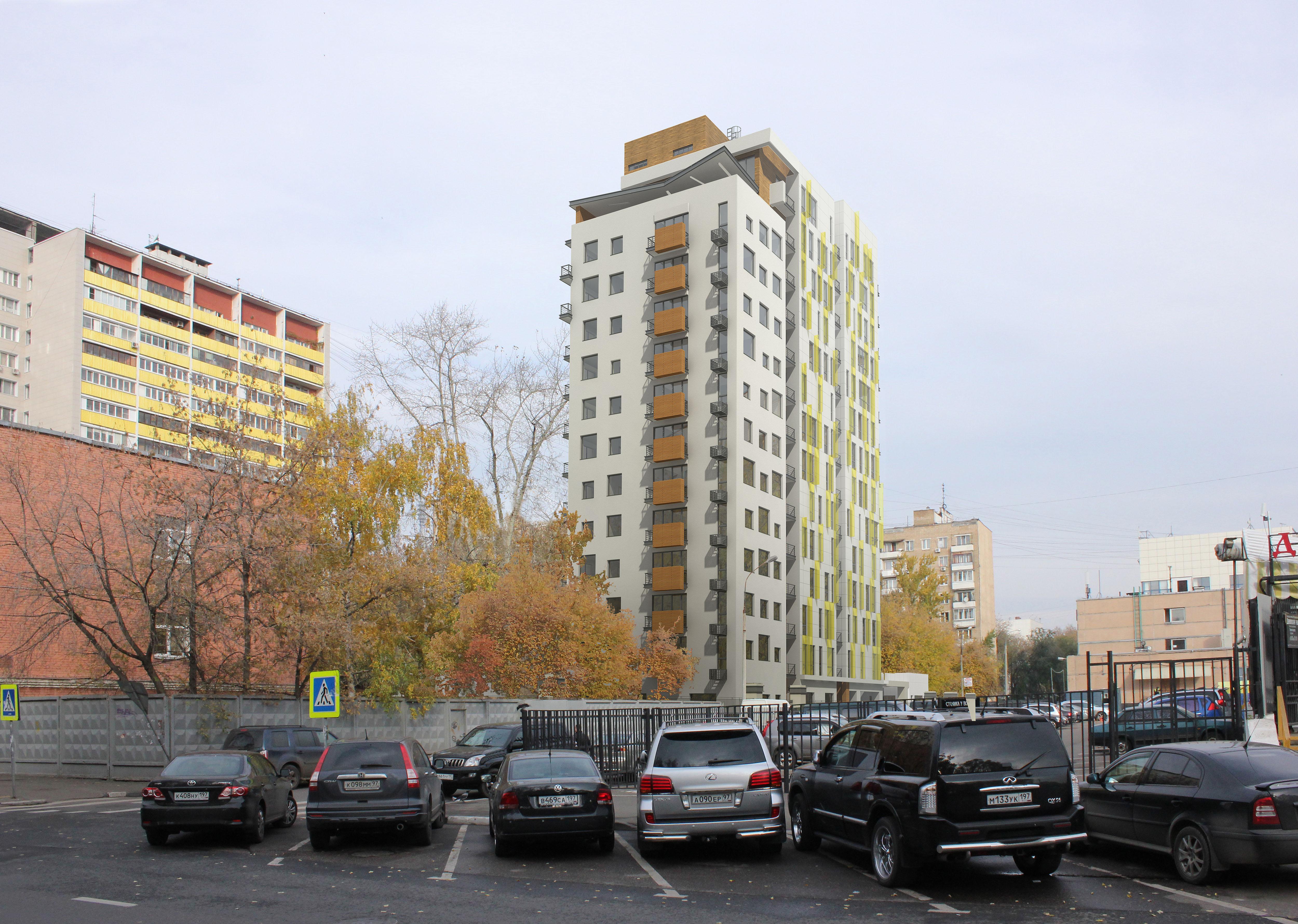Вид с ул. Серпуховской Вал