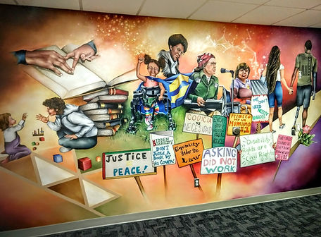 Disability Rights Iowa Mural