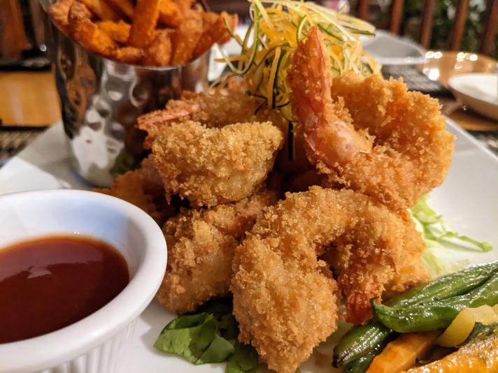 Golden fried shrimp
