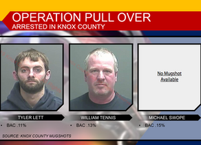 3 Knox County Men Arrested for DWI
