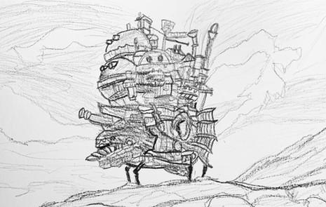 2021/1/16高一學生畫霍爾的移動城堡