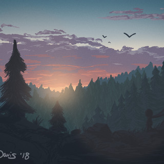 """Forest Sunset"" Cloud and Color Study"