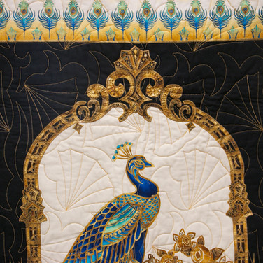 Long Arm Quilting Services for Peacock Quilt