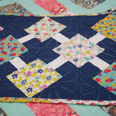 Long Arm Quilting Services with fun Retro Pattern