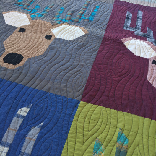 Long Arm Quilting Services - wood patter