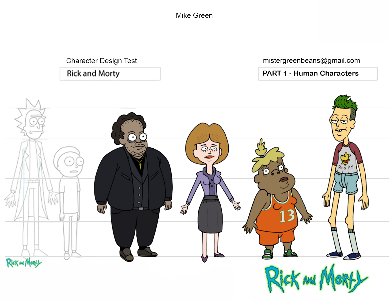 Mike Green - Rick & Morty Design Test -