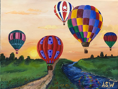 Weathering Heights, 2019, hot air balloons