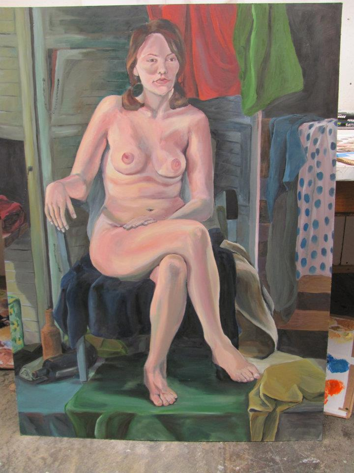 Figure Painting Model 2011 4'x3' Oils