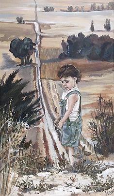 little girl by road