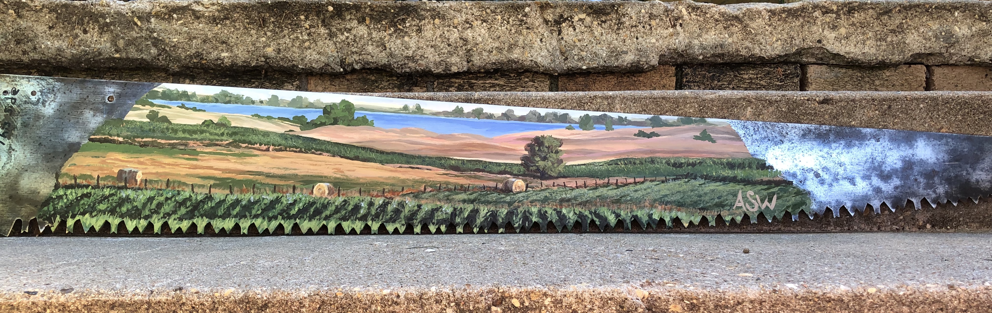 Kansas Scene on Saw-blade, 2019