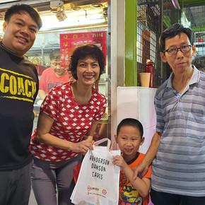 Care Packs distribution at Tanjong Pagar