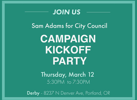 Update: Campaign Kick-Off Party Cancelled