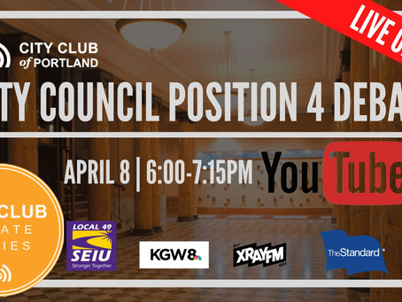 Watch Live: City Council Position 4 Debate