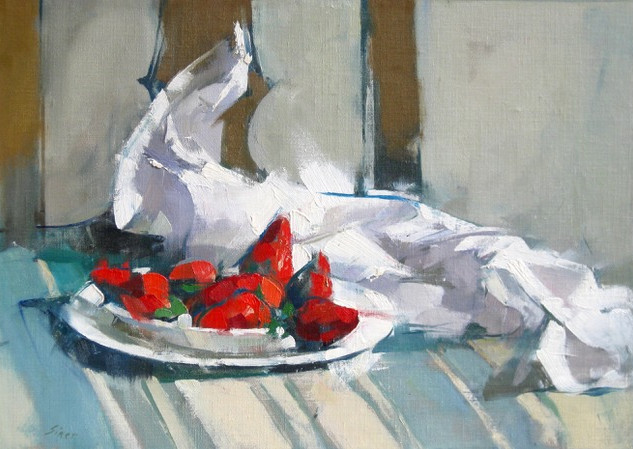 Strawberries on Chair, 2019