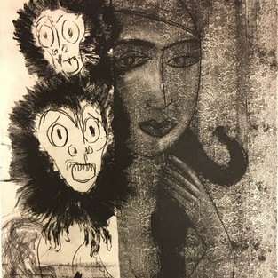 Lady with Monkeys