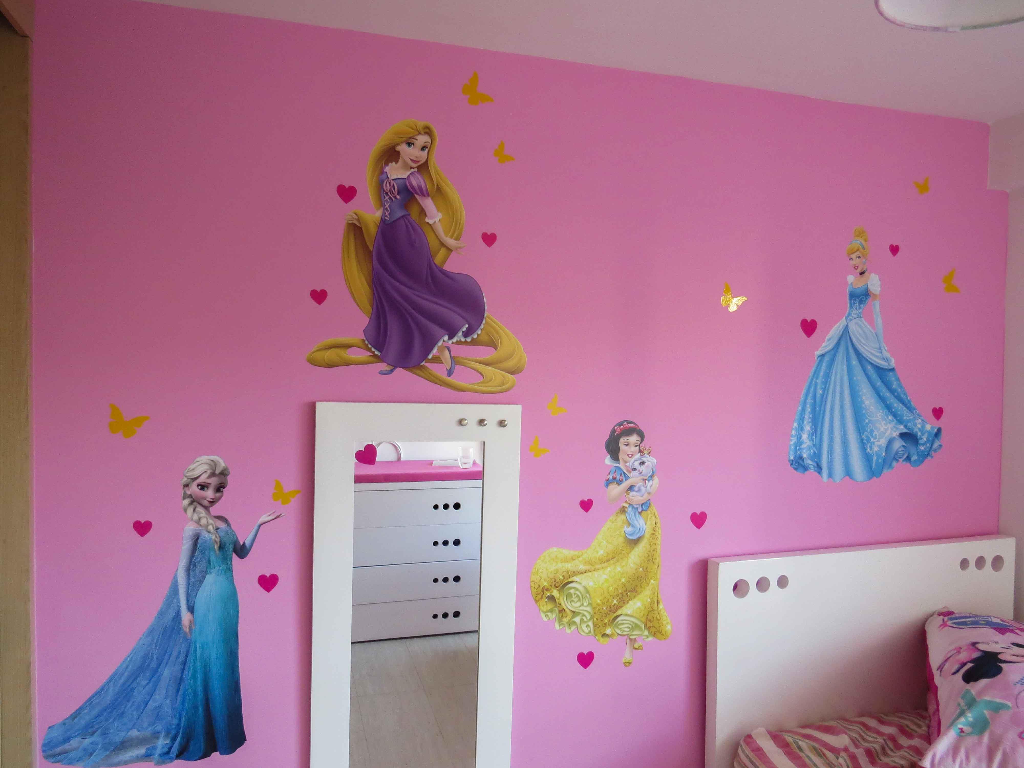 Vinilo Impreso Infantil Princesas