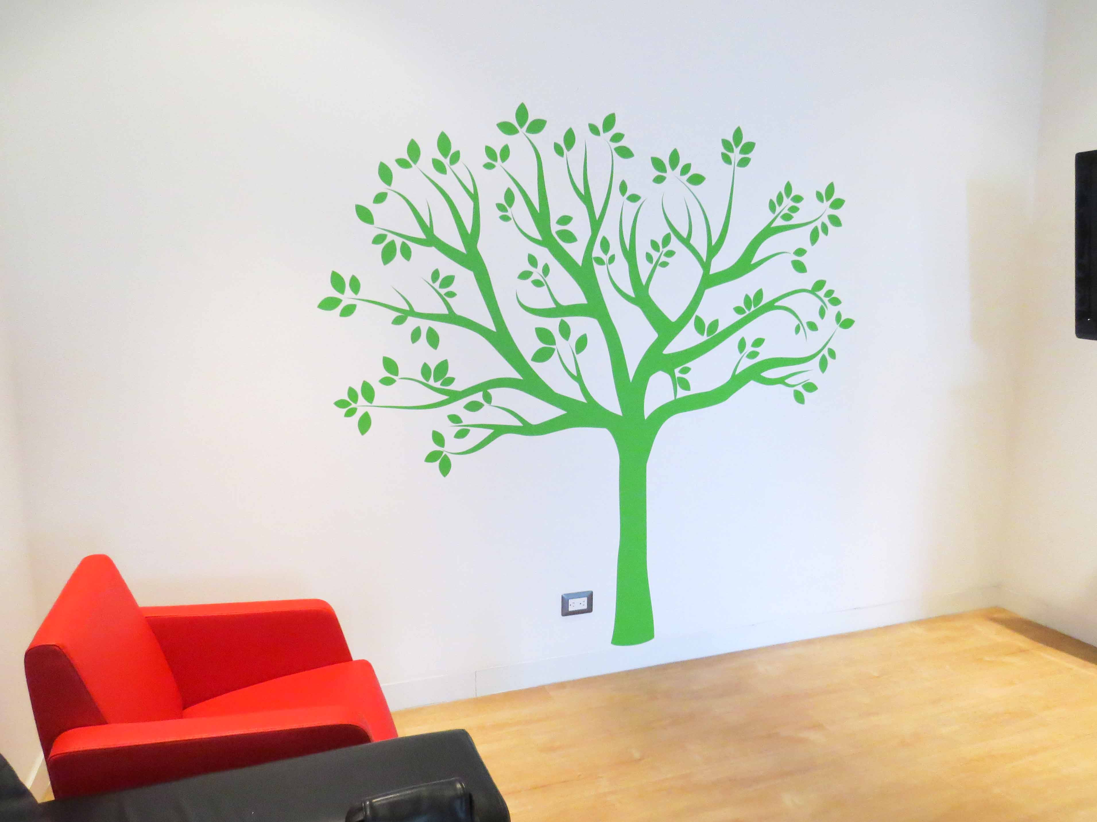 Vinilo Decorativo Árbol Oficina