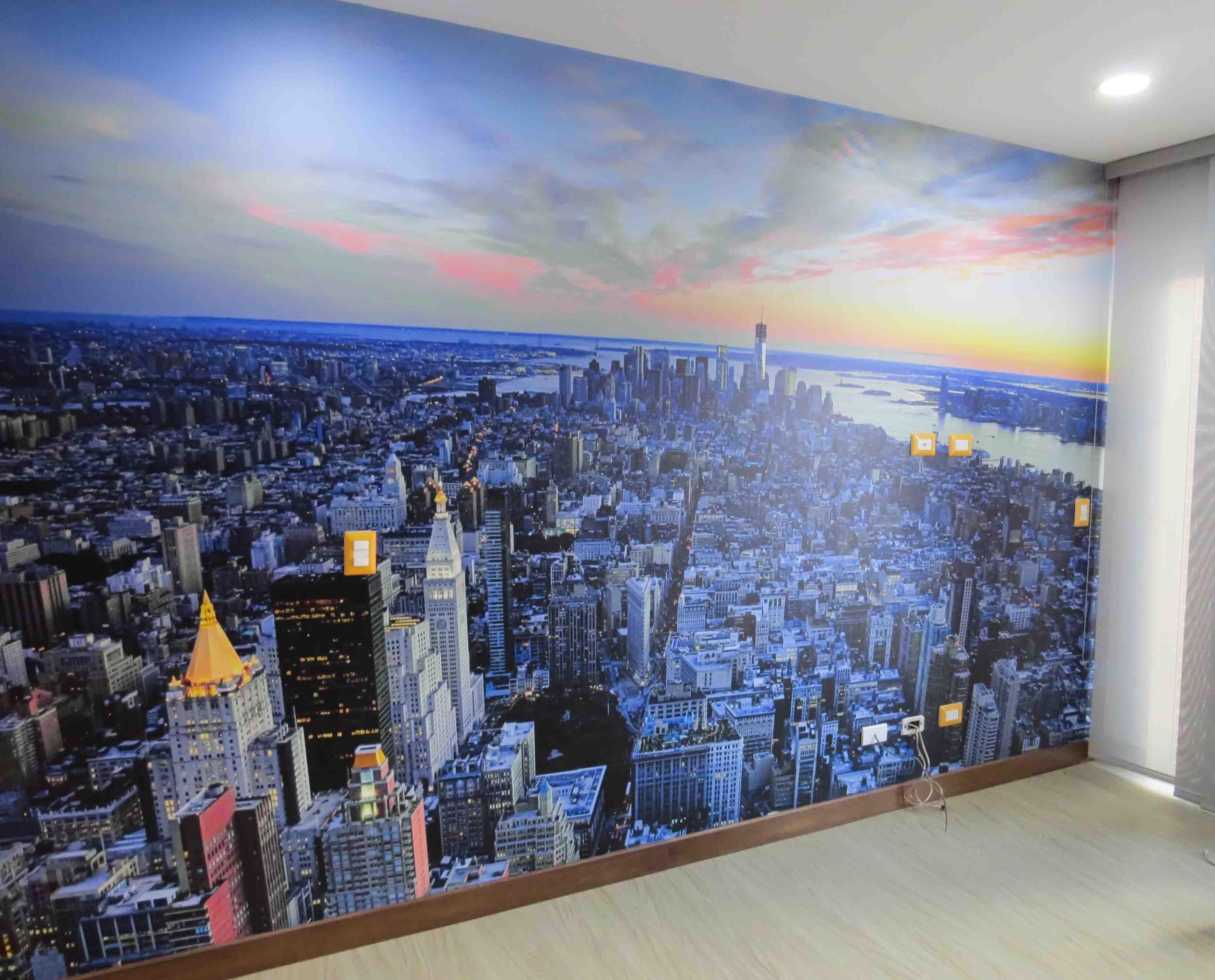 Mural New York Atardecer