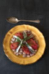 borlottibonen met sardientjes en ovenged