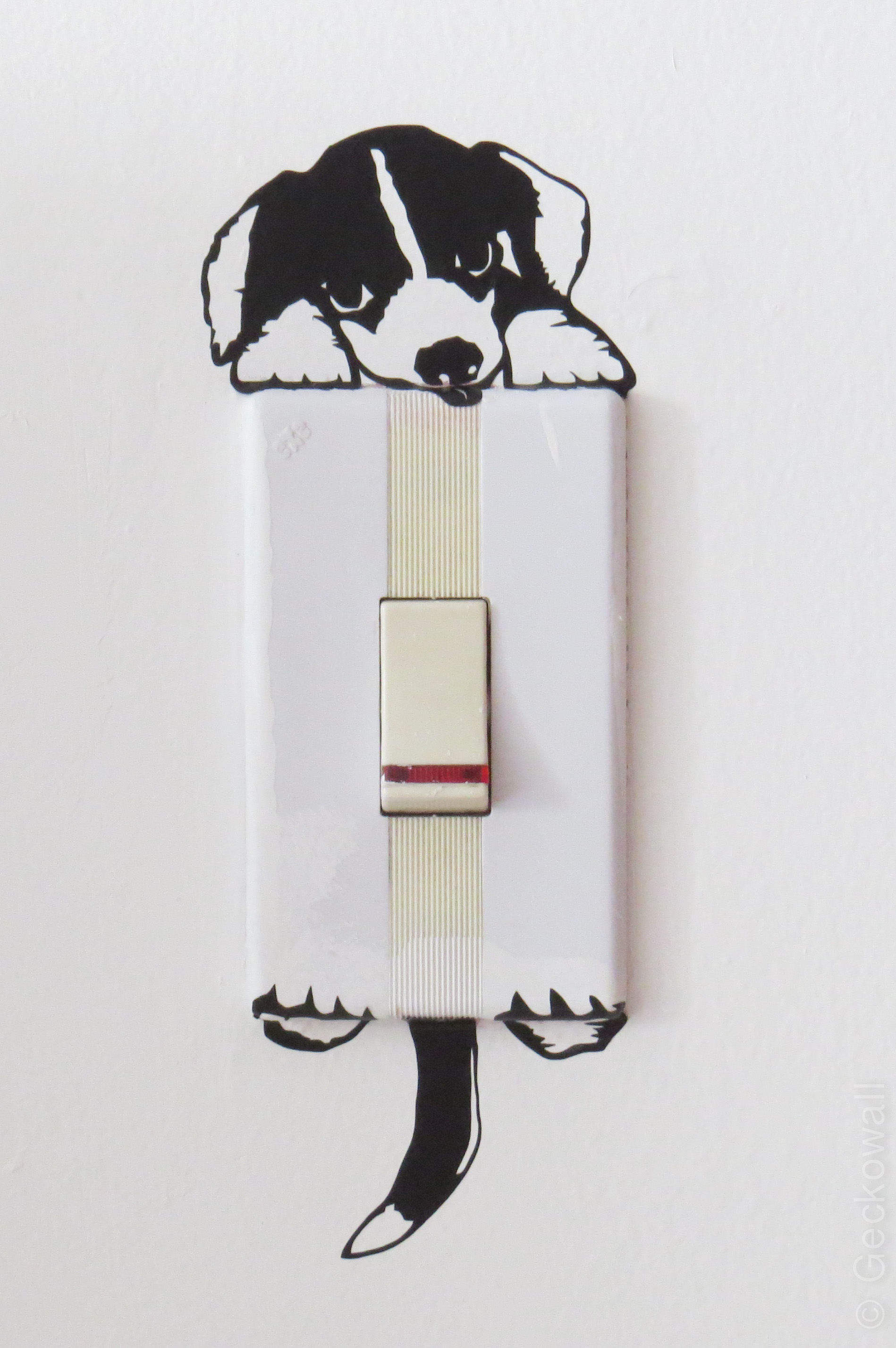 Vinilo para interruptor Perro