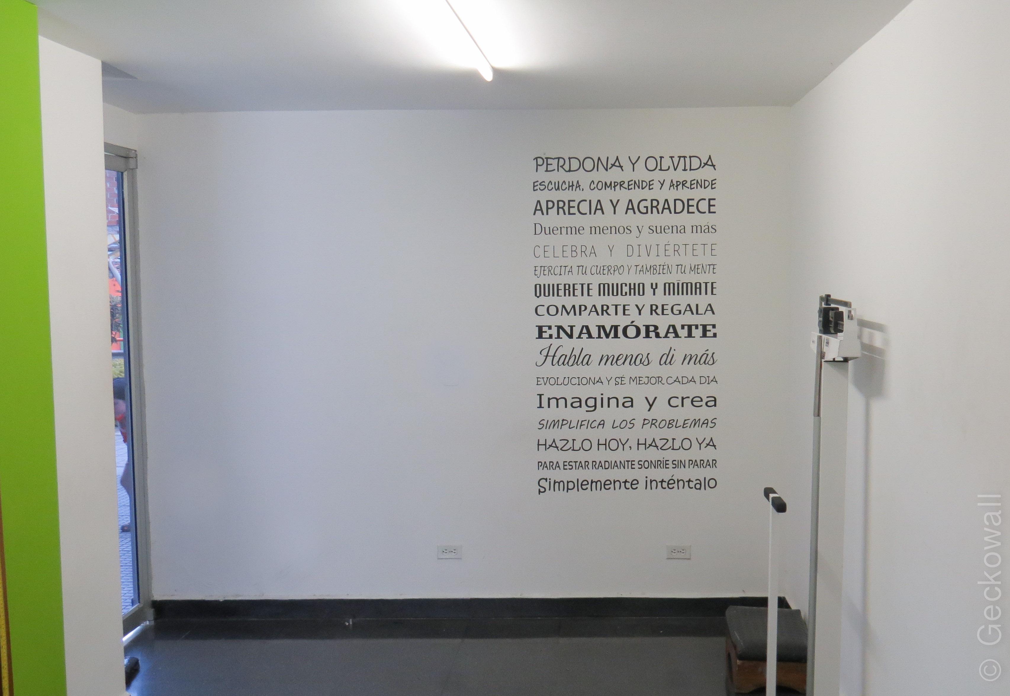 Vinilo Decorativo Texto