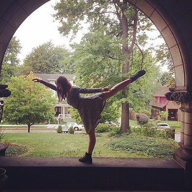 Me in arabesque