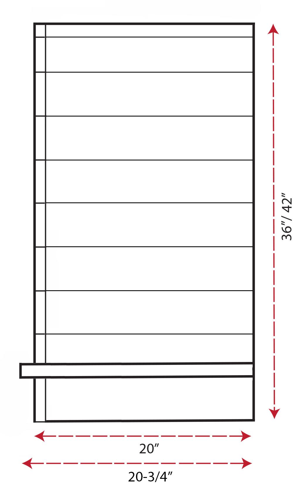 SY-WSLBA Shiplap Box Arch Hood (side view)