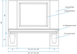 SY-CMH Classic Mantel Hood (front view)