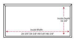 Castlewood Shiplap Chimney Hood SY-WCSL (30,36,42,48) - (bottom view)