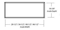 SY-WCHAC WALL HOOD (STANDARD) inside dimension