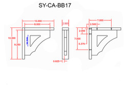 SY-CA-BB17 Line Drawing