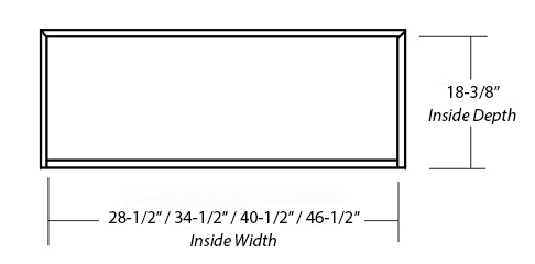 SY-WCHAP WALL HOOD ( STANDARD) inside dimension