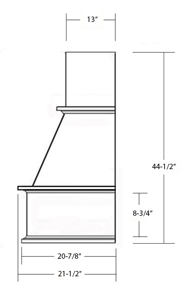 SY-WCH WALL HOOD (STANDARD) side view