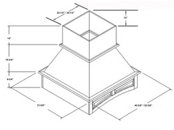 SY-WICHAP ARCHED RAISED PANEL ISLAND HOOD
