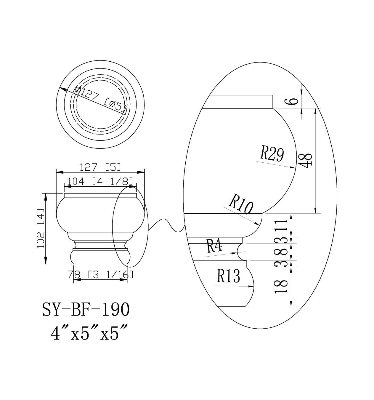 SY-BF-190 drawing