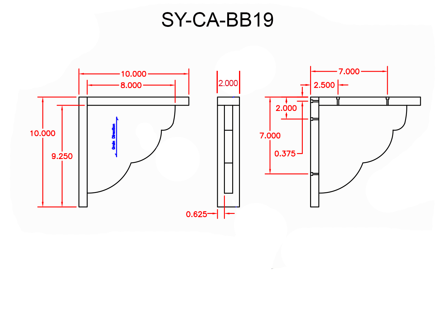 SY-CA-BB19 Line Drawing