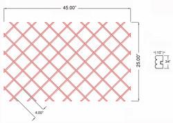 W-WR-BD-25X45 Line Drawing