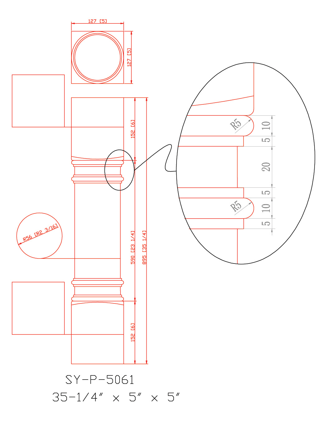 SY-P-5061 drawing