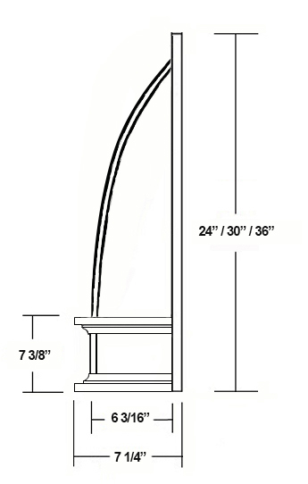 SY-JCVHF CONVEX CHIMNEY RANGE HOOD (side view)