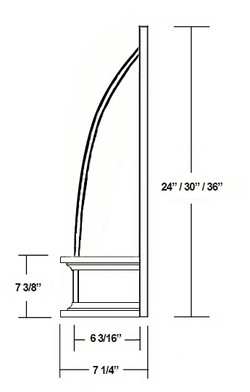 SY-JCVHF CONVEX CHIMNEY RANGE HOOD (side view)
