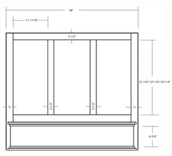 SY-WMHS (4848W - 4854W - 4860W) MANTLE HOOD WITH STRAIGHT VALANCE (front view)